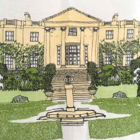 Danielle Morgan (Flax Fox Designs) - Hillsborough Castle Linen Tea Towel
